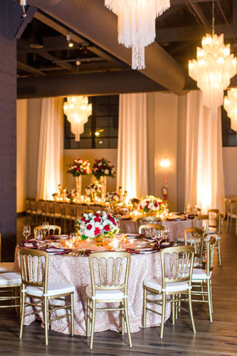 Rouge Winter Wedding Table Settings | Events Luxe Wedding & LAM_AM_Married-632_web | Events Luxe